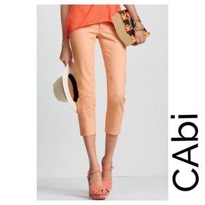 Cabi Peach Crop Jeans
